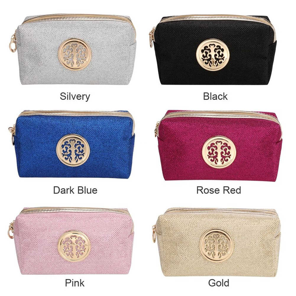 191455ff5d Glitter Cosmetic Bag Women Fashion Multi-function Makeup Pouch Travel  Toiletry