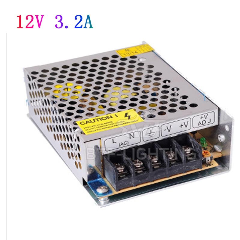 AC110V 220 V 240 V à DC 12 V 3.2A 38 W Transformateur Commutateur Adaptateur D'alimentation pour La Lumière LED Bande