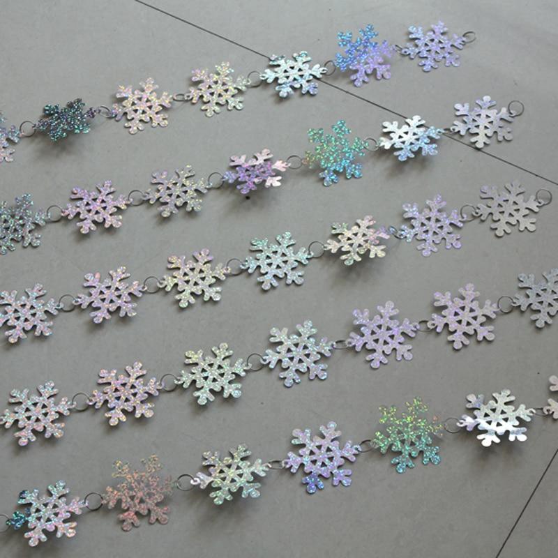 Milad daxili bəzək snowflake sequins pərdə Şənlik bəzək Milad - Şənlik aksesuarları - Fotoqrafiya 2