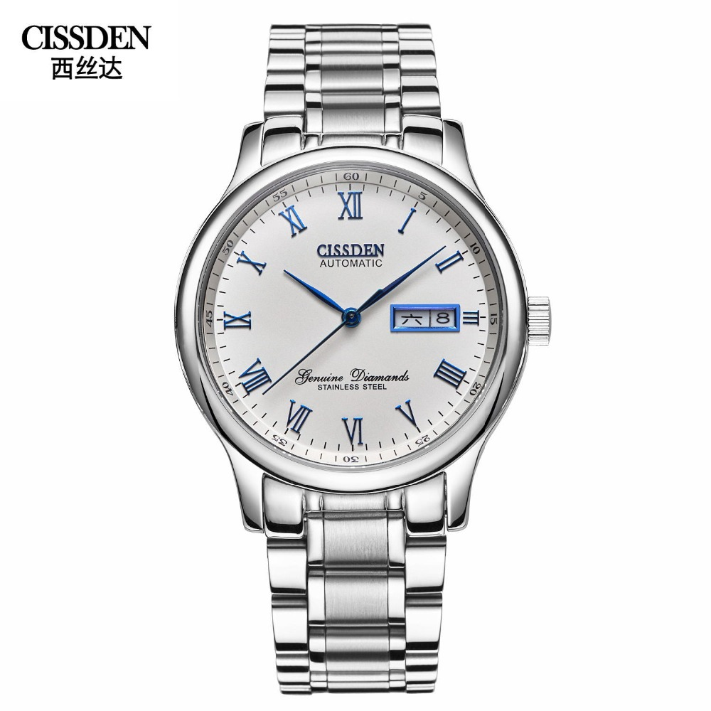 CISSDEN Luxury brand Men s mechanical watches Automatic wrist watch 100m waterproof calendar