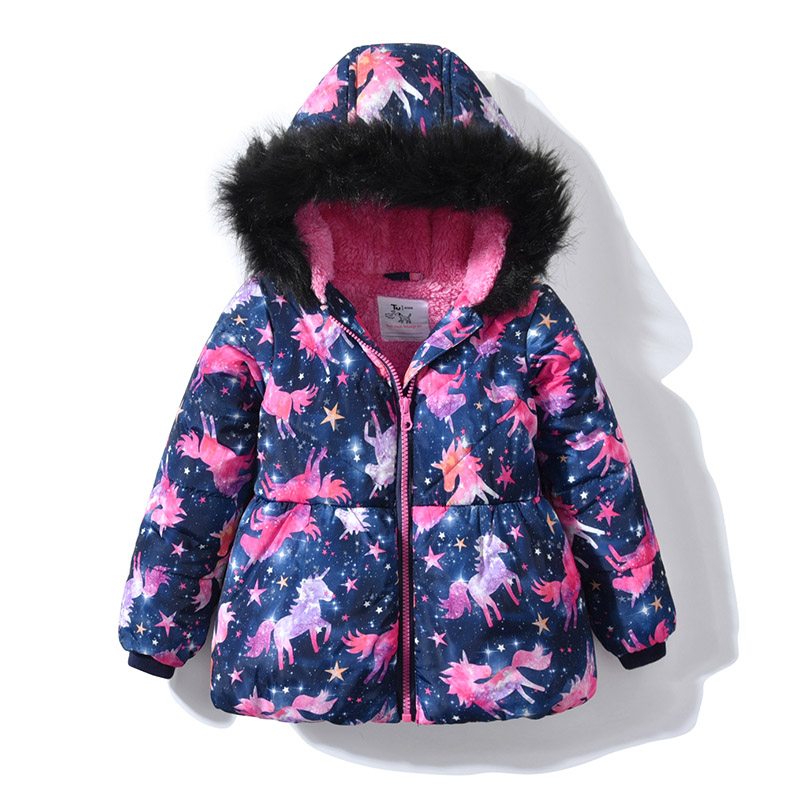 Baby Girl Winter Coats Waterproof Fur Hoodie Collar Jacket 2018 Kids Clothes Warm Thicken Fleece Outerwear Children's Parkas paul frank baby boys supper julius fleece hoodie