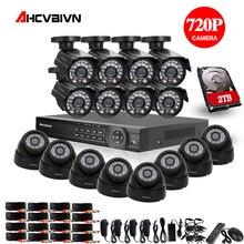 2TB HDD 1.0MP HD 2000TVL security bullet camera CCTV System Kit 16channel AHD Full 720P Video Surveillance 1080P DVR NVR system цена в Москве и Питере