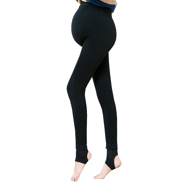 b6f2649e70d210 Winter High Waist Maternity Leggings Pants For Pregnant Womem Clothes  Stretch Thicken Warm Velvet Trousers Pregnancy Clothing