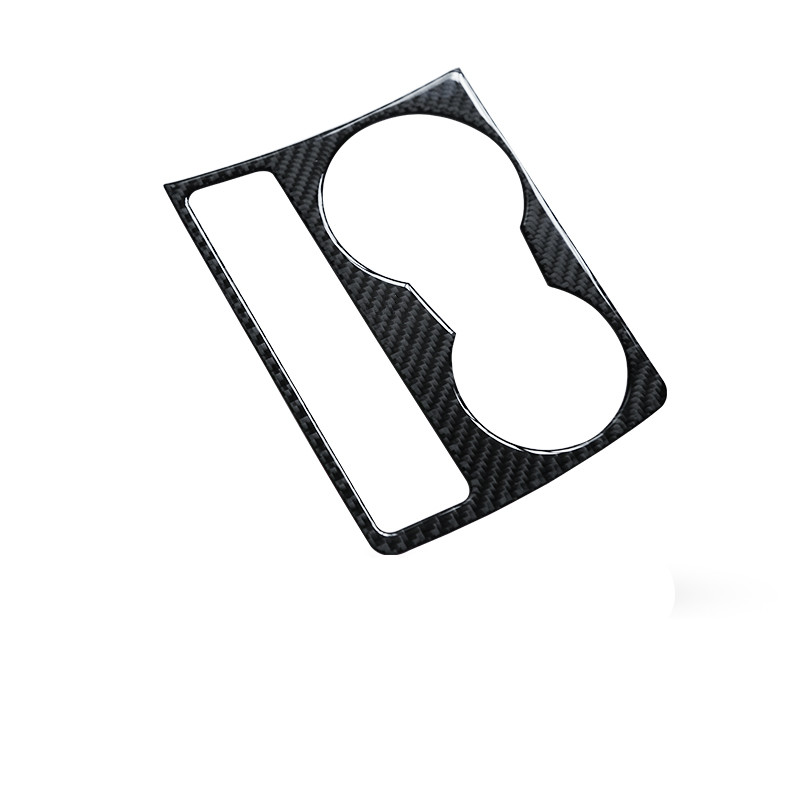 carbon fiber color water cup holder frame cover trim auto