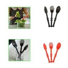 Home Plastic Bone Cutlery Set Kids Children Cutlery Set Tableware