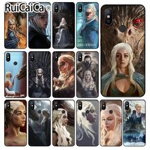 Ruicaica Game of Thrones Mother Dragons Colorful Cute Phone Case for Redmi 5 plus Note 4 4X Xuiao Mi 3 8 SE 6