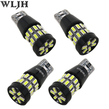 WLJH 4x 5W Canbus W5W LED T10 Light 3014 SMD 12V Car LED Interior Light Clearance Bulbs Backup Reverse Lamp Number Parking Light