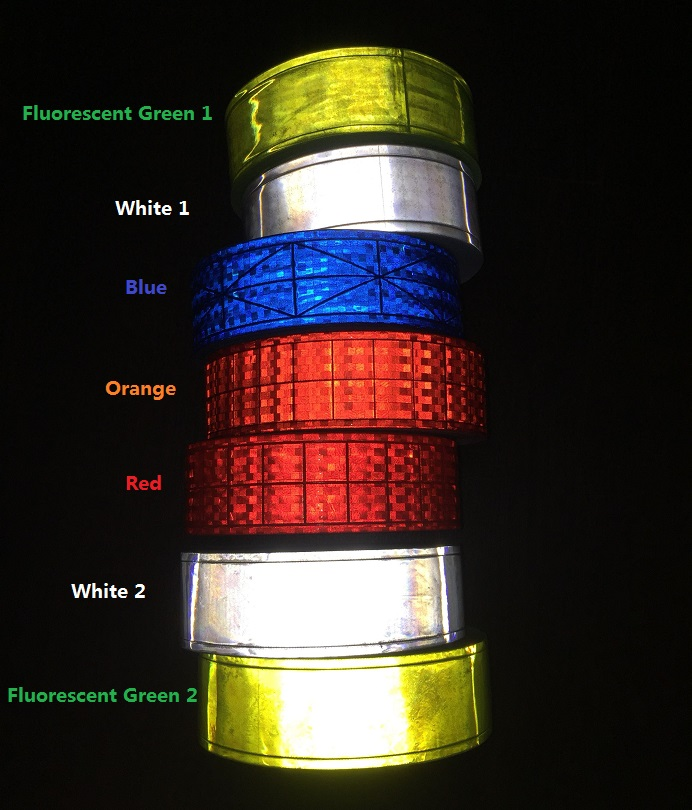 5CM*1M High Visibility PVC Reflective Tape Reflective Safety Clothing Accessories Road Traffic Warning Strip 5cm 45 high visibility reflective tape white and red reflective warning tape directly paste for van car warning posted