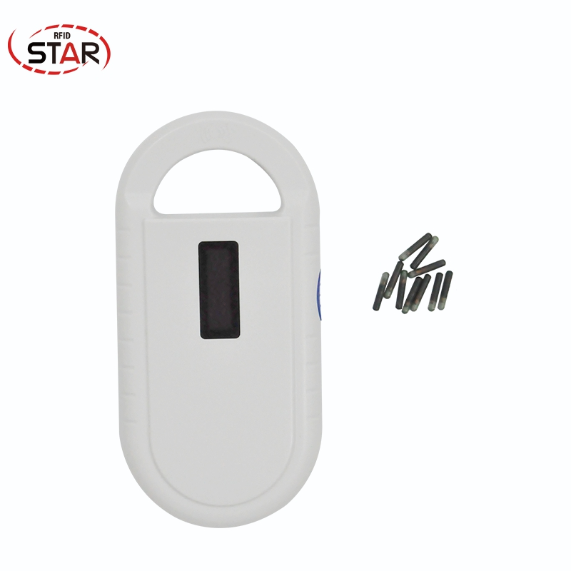 20pcs Mini Size 1.25*7mm ISO Chip Antiallergic Pet Microchips For Dogs + 1pc Iso11784/5 Fdx-b 134.2khz Pet Microchip Scanner