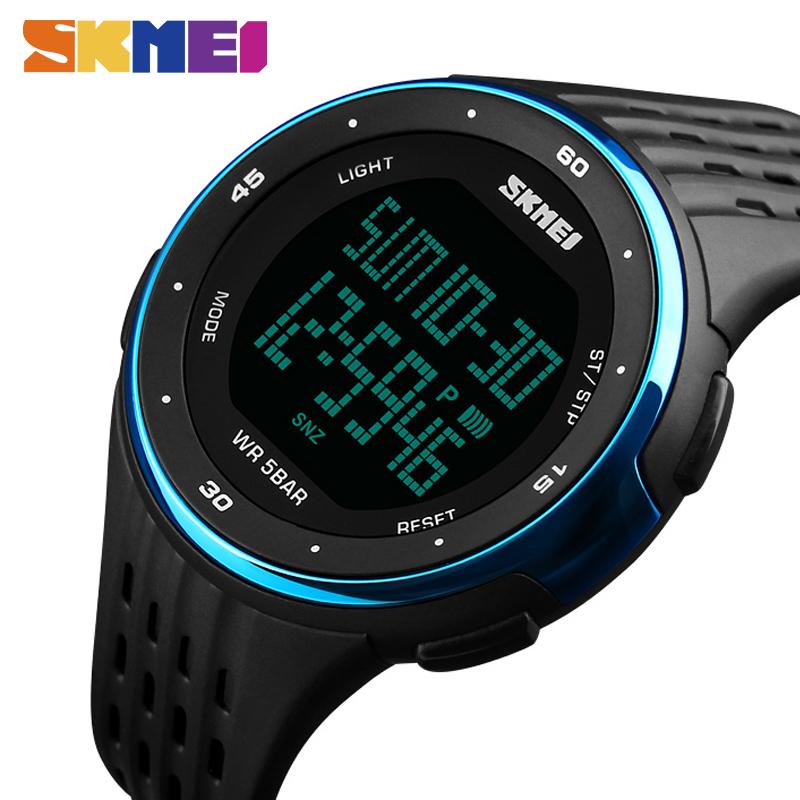Prix pour SKMEI 1219 Hommes Sport Montre Chronographe Alarme Horloge Numérique Montres Relogio Masculino Affichage LED Étanche Montres