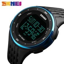 SKMEI 1219 Hommes Sport Montre Chronographe Alarme Horloge Numérique Montres Relogio Masculino Affichage LED Étanche Montres