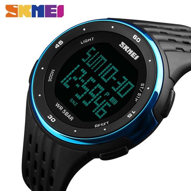 SKMEI 1219 Men Sport Watch Chronograph Alarm Clock Digital Watches Relogio Masculino LED Display Waterproof Wristwatches