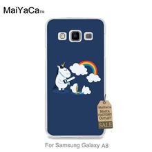 Colorful Cute phone Accessories For case GALAXY A8 Unicorn Rainbows cute animals