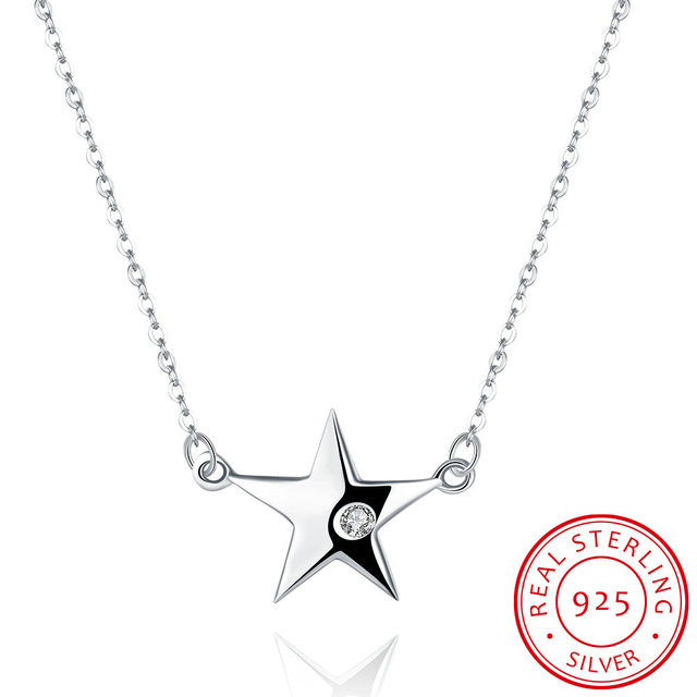 925 sterling silver necklace designer light sky star mermaid 925 sterling silver necklace designer light sky star mermaid steampunk fox long filmes chain pendants mozeypictures Images