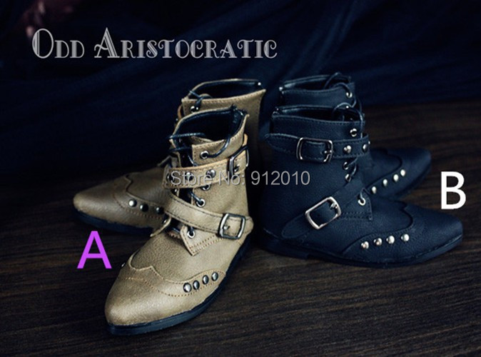 Punk Retro Rivet Short Boots 2 colors  for 1/3 SD17 Uncle, SOOM ID72 IPEID SID BJD Doll Large Foot  Shoes bjd doll shoes doll accessories chocolate martin boots 1 4 id 1 3 sd17 uncle