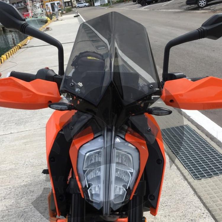 For KTM Duke 125 390 Duke 2017 2018 2019 Windshield Windscreen Wind Deflector With Bracket Motorcycle Accessories Black Clear