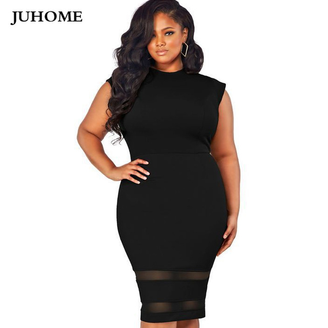 plus size dresses for women 4xl 5xl big size Tunic office Pencil bodycon  black white summer dress casual vintage Lady midi dress f727e2d7aee2
