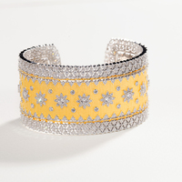 CMajor S925 Sterling Silver Antique Lace Hollow Star Wide Open 5A CZ Bangle Cuff For Women Wholesale