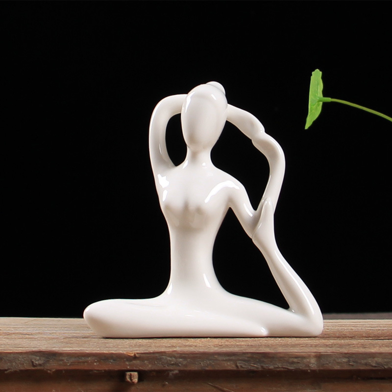 12 Kinds White Ceramic Yoga Collectible figurines Yoga Miniatures Summary Yoga Statues Porcelain Yoga LadyFigurines Classic Residence Decor Collectible figurines & Miniatures, Low cost Collectible figurines & Miniatures, 12...