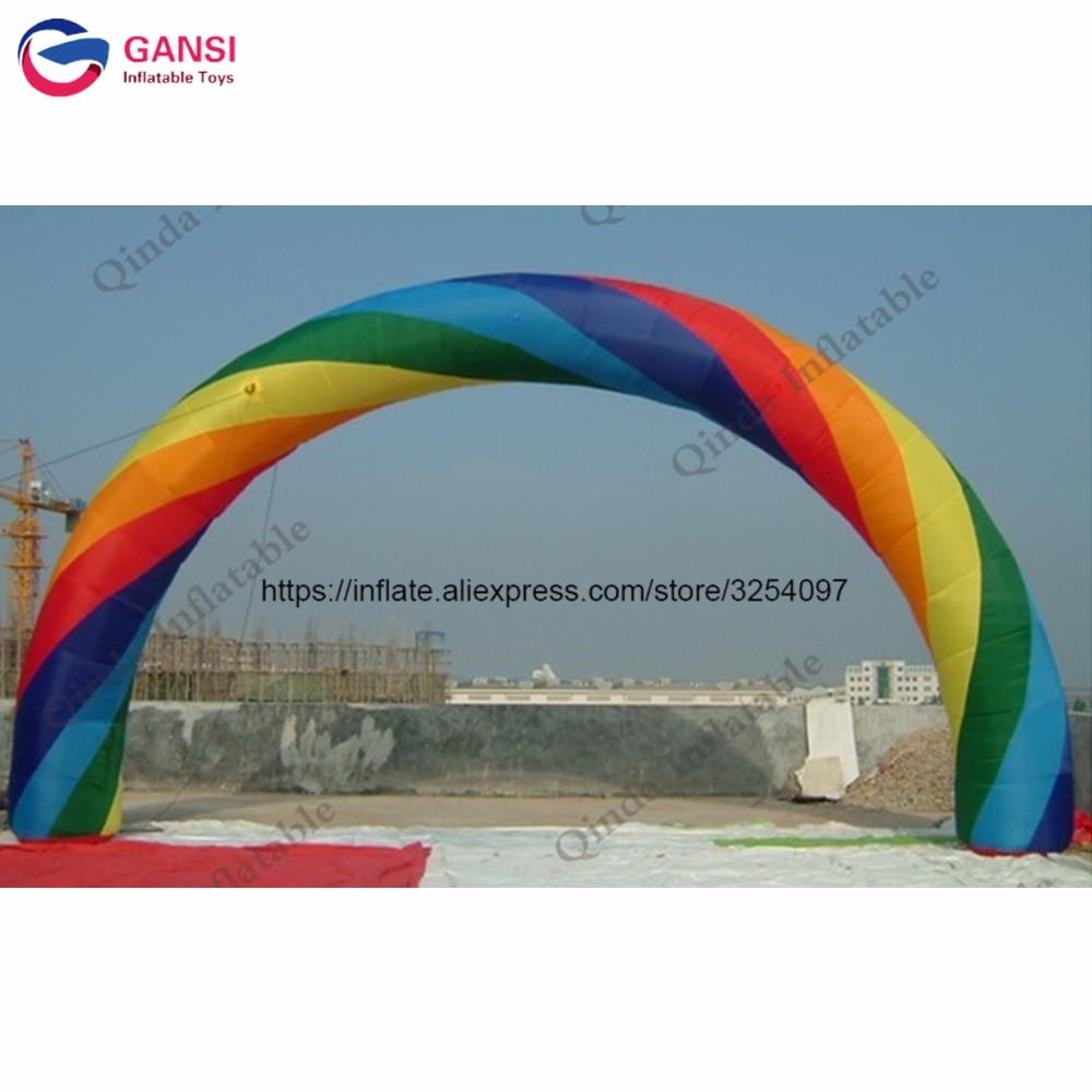 Arc-en-ciel gonflable d'envergure de la porte 8 m d'arc-en-ciel gonflable de publicité extérieure pour des décorations de partie