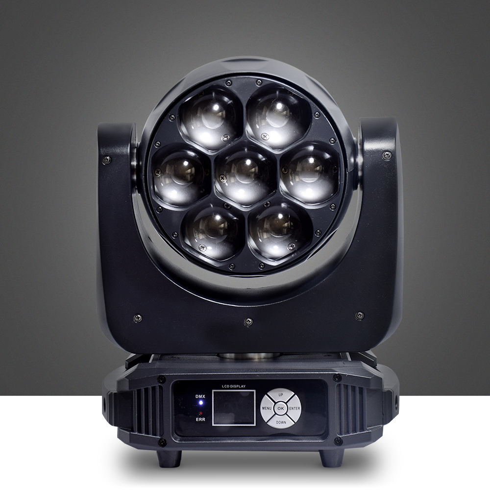 DMX Wash LED Beam RGBW 4IN1 7X40 LED Zoom Moving Head Light For DJDMX Wash LED Beam RGBW 4IN1 7X40 LED Zoom Moving Head Light For DJ