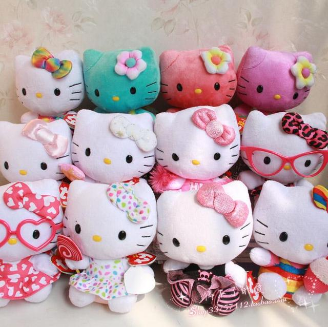 HOT Ty Beanie Babies Hello Kitty Plush dolls soft cat for girls gift 15cm  5pcs  05b52025e6e