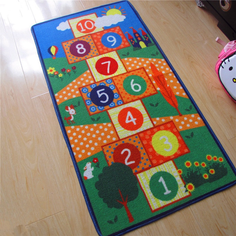 Hot Sale Hopscotch Pattern Baby Play Mats Crawling Rug Carpet Educational Toys For Nordic Kids Room Decor Photo Props ...