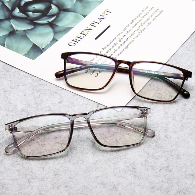 436b4b4fc0 Square simple fashion glasses frame comfortable Korean version of the trend  glasses frame male and female students flat mirror.