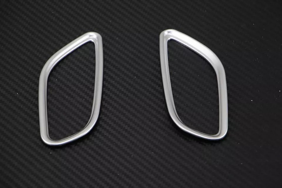 2PC ABS For Mitsubish Outlander 2013-2016 Front air outlet frame sticker