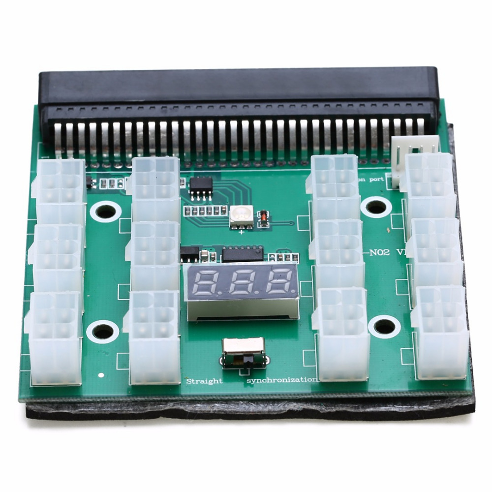 1200w/750w Power Module Breakout Board Server Power Conversion Board For HP PSU GPU Mining Ethereum ZEC ZCASH ETH new hot breakout board 10pcs cable for hp 1200w 750w power module mining ethereum qjy99