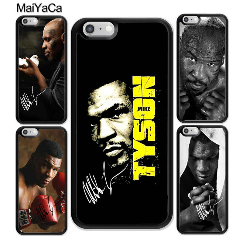 MaiYaCa mike tyson boxe Impresso Borracha Macia Caso Do Telefone Móvel Para o iphone 6 7 6S Plus Plus 8 X XR XS MAX 5S SE Back Cover Shell