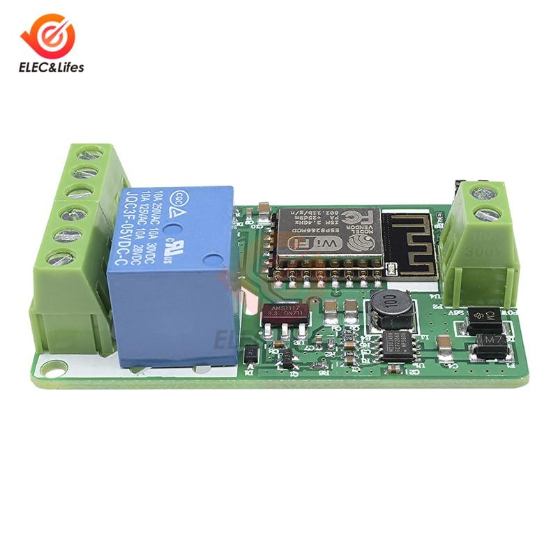 DC 12 В 24 В Релейный Щит WiFi плата беспроводной модуль ESP8266 ESP-12F сетевой релейный модуль переключатель управления выход 220 В 10A ESP12F