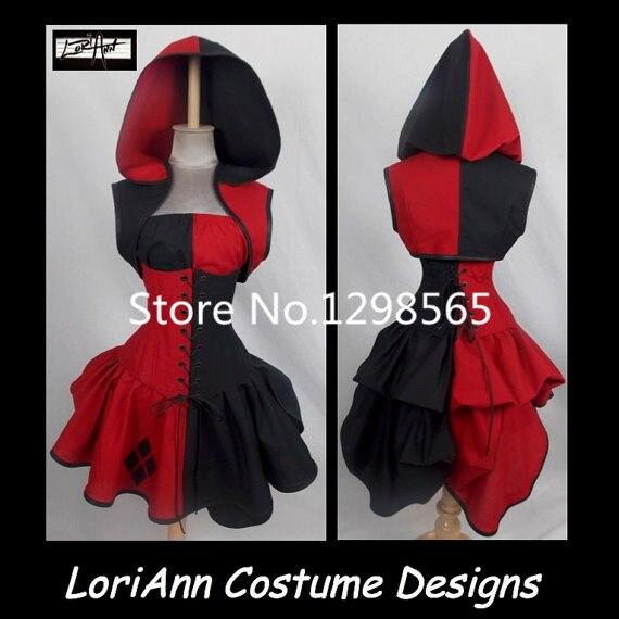 Costume de Style de méchant de qg Joker Costume de LoriAnn conçoit la taille faite sur commande