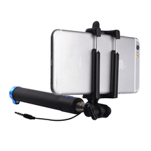 Mini Wired Extendable Selfie Stick Mono pod For iPhone