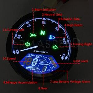 Image 4 - Universal Waterproof LCD Motorcycle Digital Speedometer 12000RPM 8 18V Gear Tachometer Meter Odometer For Yamaha nmax xmax aerox