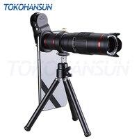 TOKOHANSUN Cellphone Mobile Phone Lens 22x Camera Zoom Optical Telescope Telephoto Lenses for Samsung Iphone Huawei Xiaomi
