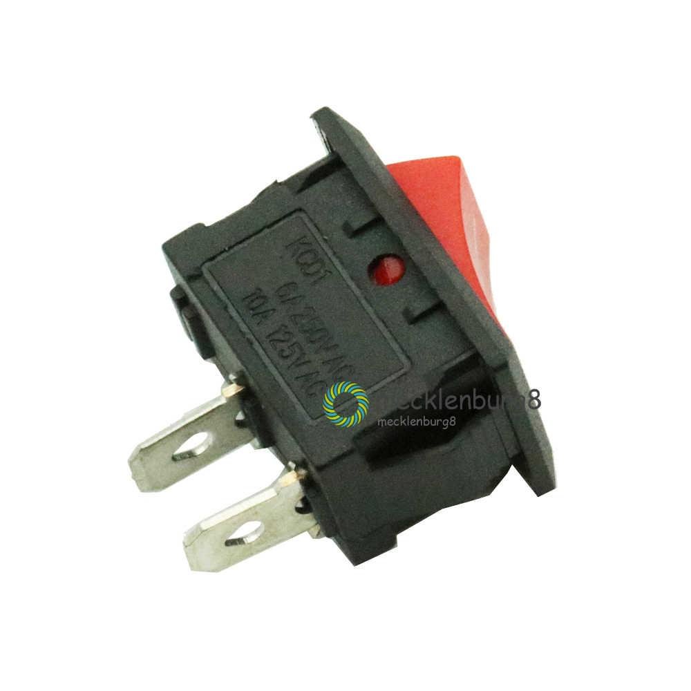 5 piezas KCD1-101 AC 6A 250V 2 Pin/ME/SPST Snap en Mini rojo botón bote interruptor basculante 15*21MM