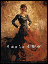 Spanish Flamenco Dancer latina woman Oil painting on canvas hight Quality Hand-painted Painting Home Decor paint Wall art paint