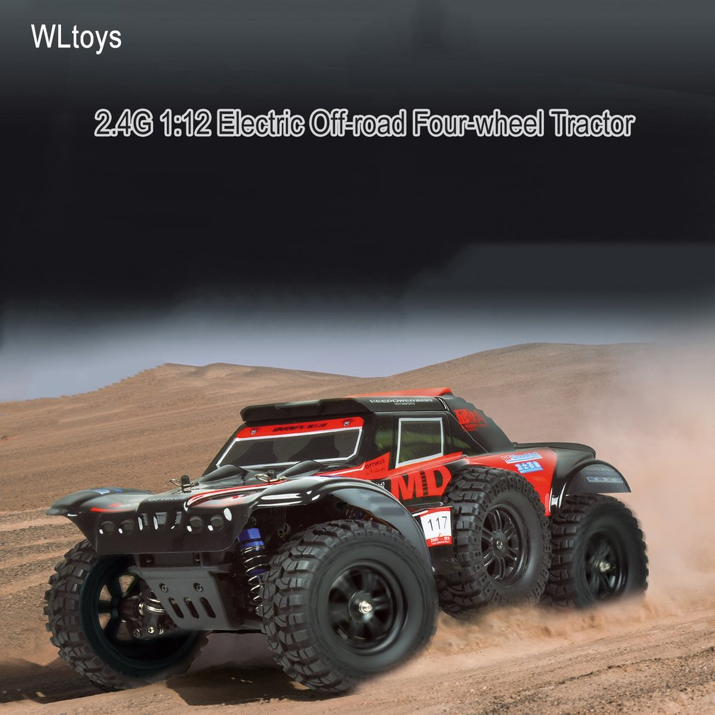 WLtoys 124012 Electric RC Climber Car Toys 540 Brush Motor 2.4G 1:12 Off-road Four-wheel Tractor Automatic Vehicle RC Racing CarWLtoys 124012 Electric RC Climber Car Toys 540 Brush Motor 2.4G 1:12 Off-road Four-wheel Tractor Automatic Vehicle RC Racing Car