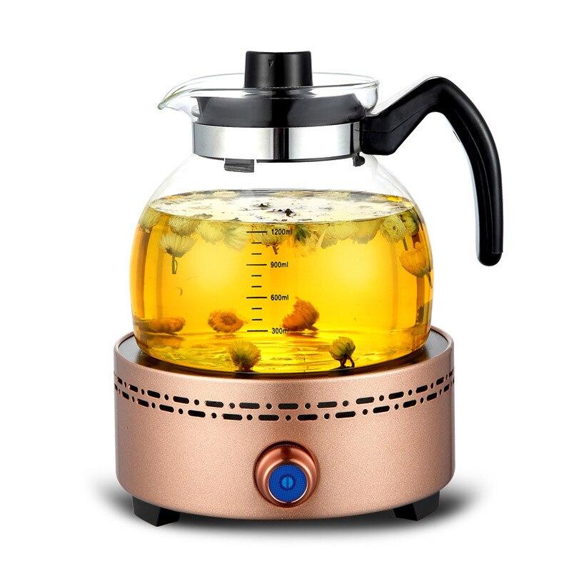 AC220 240V 50 60 hz mini cuisinière en céramique électrique ébullition thé chauffage café 1000 w puissance 3 fichiers cuisinière