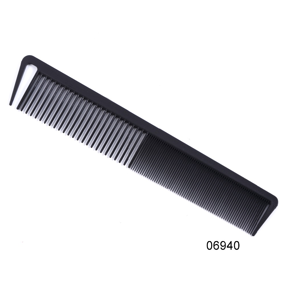 Heat Resistant Salon Carbon Antistatic Cutting Comb Large Sectioning Comb Fiber Combs Anti Static Barber Tool(China)