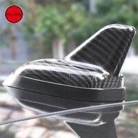 3K Carbon Fiber Car Shark Fin Antenna Universal for Tesla Model S Model X 2014 2017 Car Decoration Aerials Accessories 1 PC