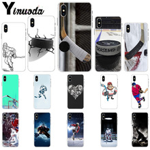 Yinuoda T hockey sport TPU Soft Silicone Phone Case Cover for Apple iPhone 8 7 6 6S Plus X XS MAX 5 5S SE XR Cellphones yinuoda cat ar ariana grande soft silicone tpu phone cover for apple iphone 8 7 6 6s plus x xs max 5 5s se xr cellphones