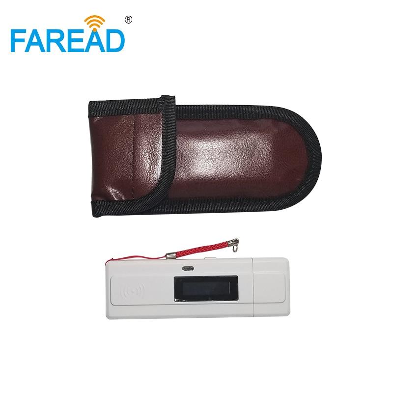 Livraison gratuite ISO standard lecteur d'identification des animaux de micro-écaillage 134.2khz RFID USB mini scanner portable pour les éleveurs d'animaux de compagnie