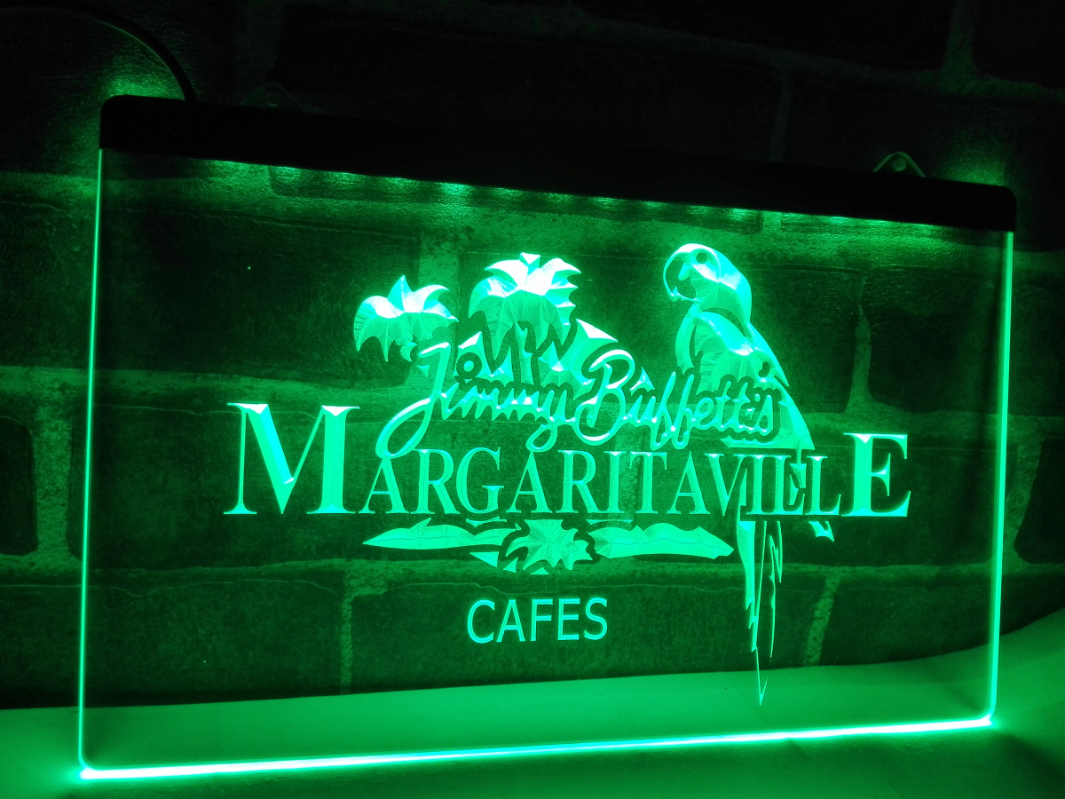 Le110 jimmy buffett margaritaville led neon light sign for Room decor neon signs