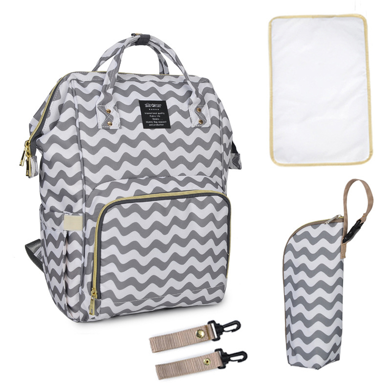 2018 New Diaper Backpack For Nappies Multifunction Large capacity Pregnant Women Fashion Mother Bag Waterproof Printing Striped