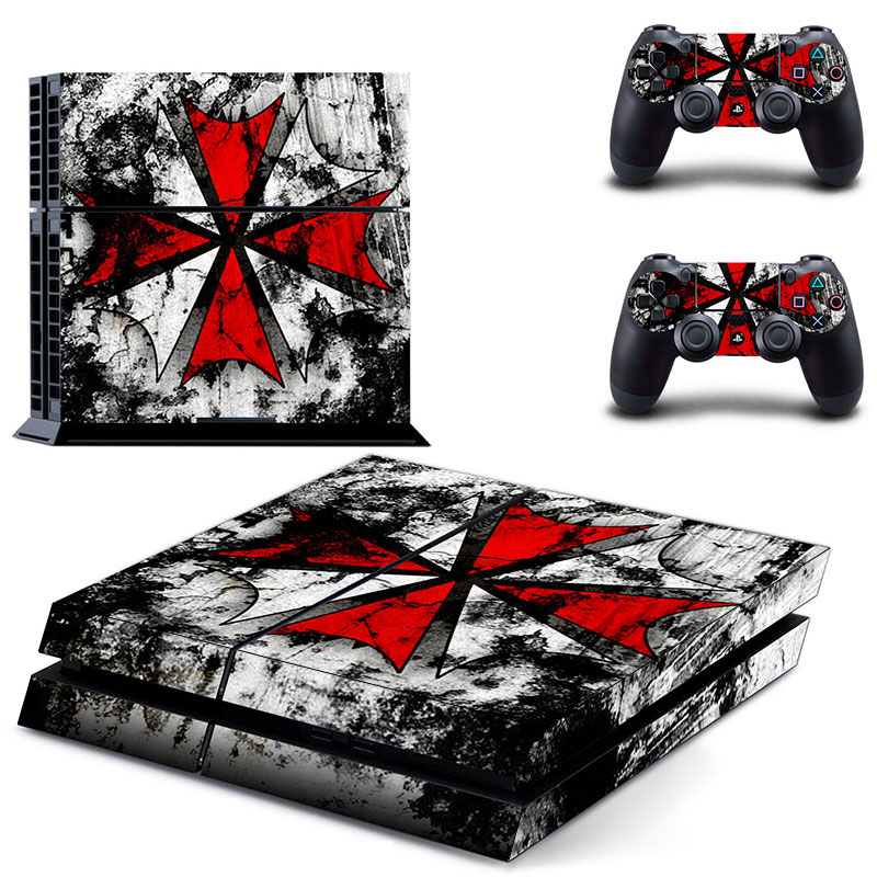 HOMEREALLY PS4 Skin PVC HD Resident Evil Umbrella Logo Sticker For Sony PlayStation 4 Console Vinyl Sticker For Ps4 Controller