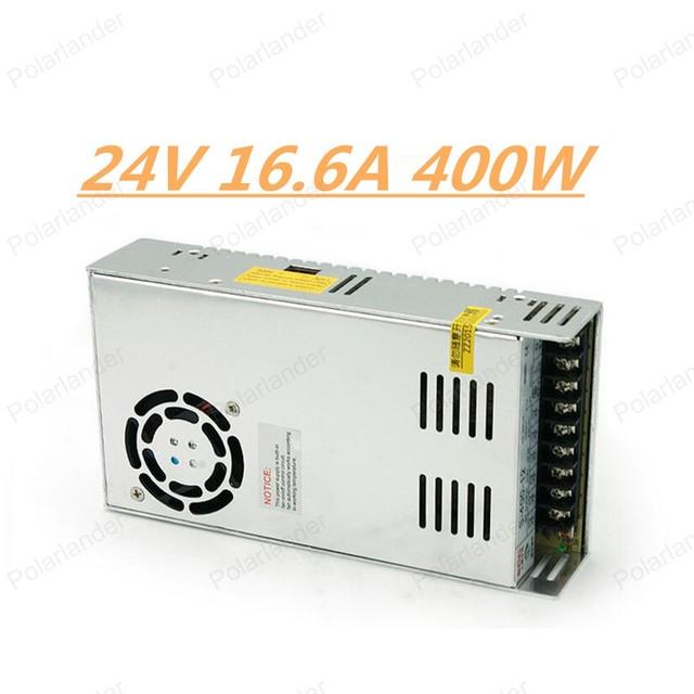 Envío libre 24 V 16.6A 400 W 110 V-220 V adaptador de Transformadores de Iluminación Conductor seguro de alta calidad LED fuente de alimentación de tira