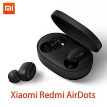 Xiaomi Redmi Airdots наушники Bluetooth 5,0 беспроводная гарнитура с шумоподавителем с микрофоном гарнитура с ушным крючком управление AI