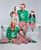 Family Clothes Christmas Family Pijamas Matching Family Outfits Father Mother Son Daughter Baby Pajamas Set Drop